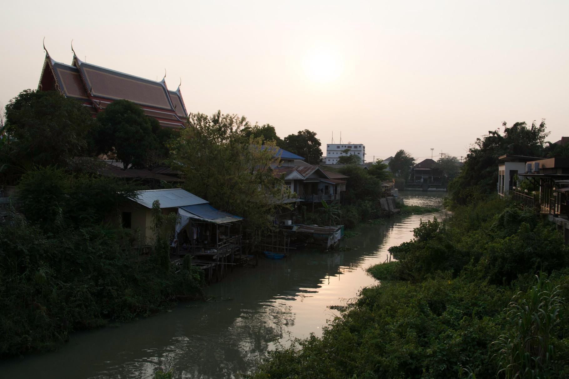 Aussicht von unserem Gasthaus in Ayutthaya