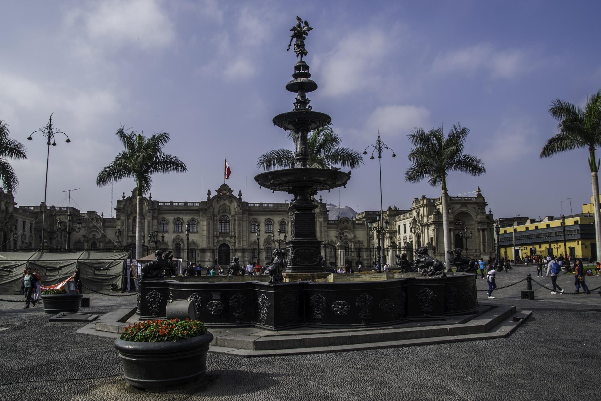 Lima - Plaza Mayor im centro historico