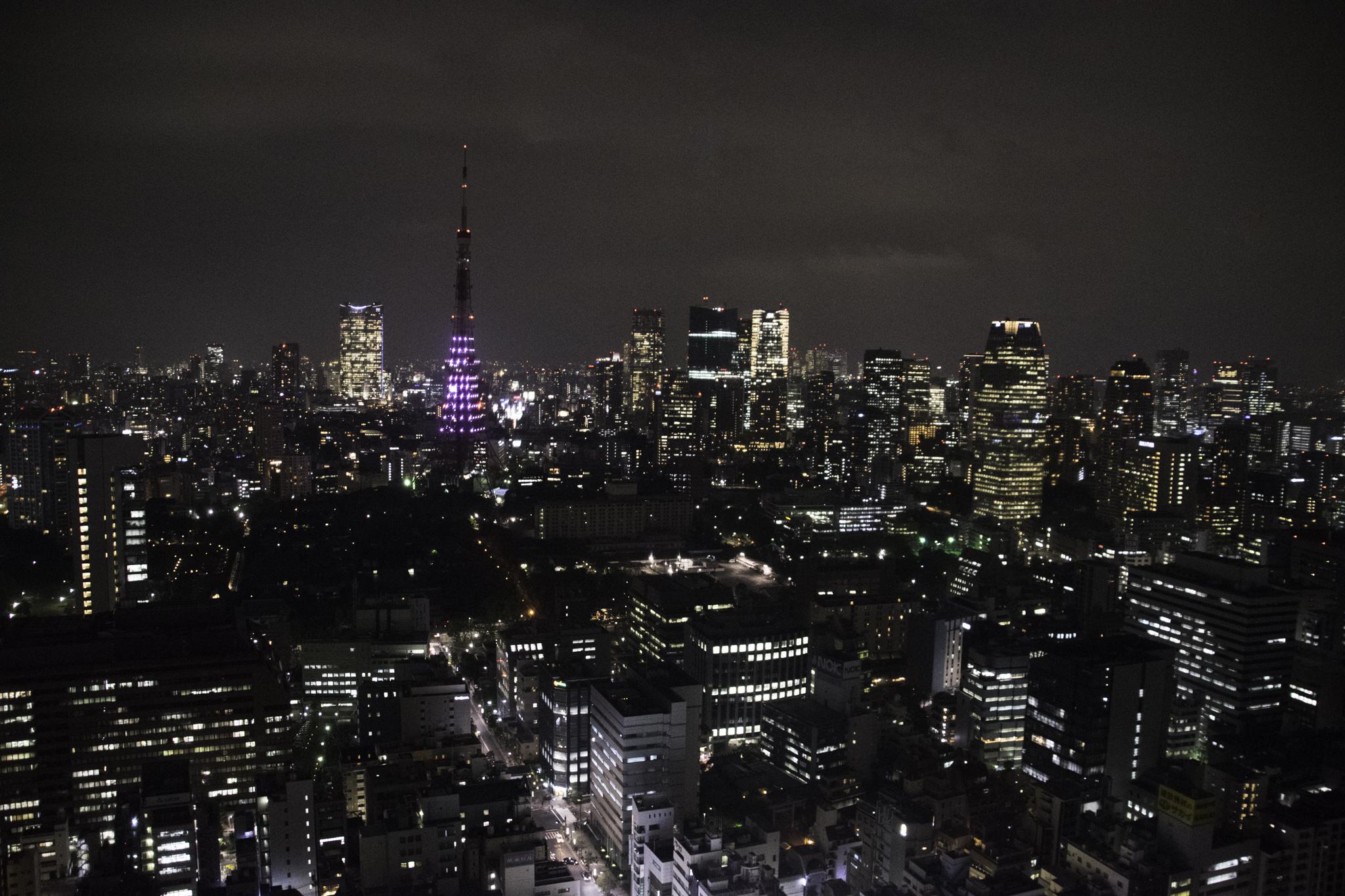 Blick über das nächtliche Tokio