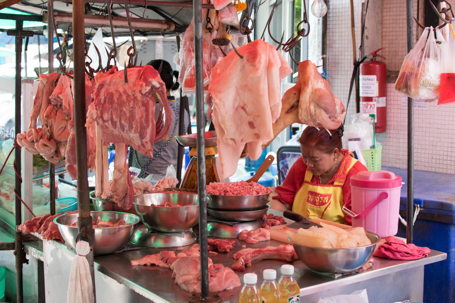 Auf dem Morgenmarkt direkt bei unserem Gasthaus