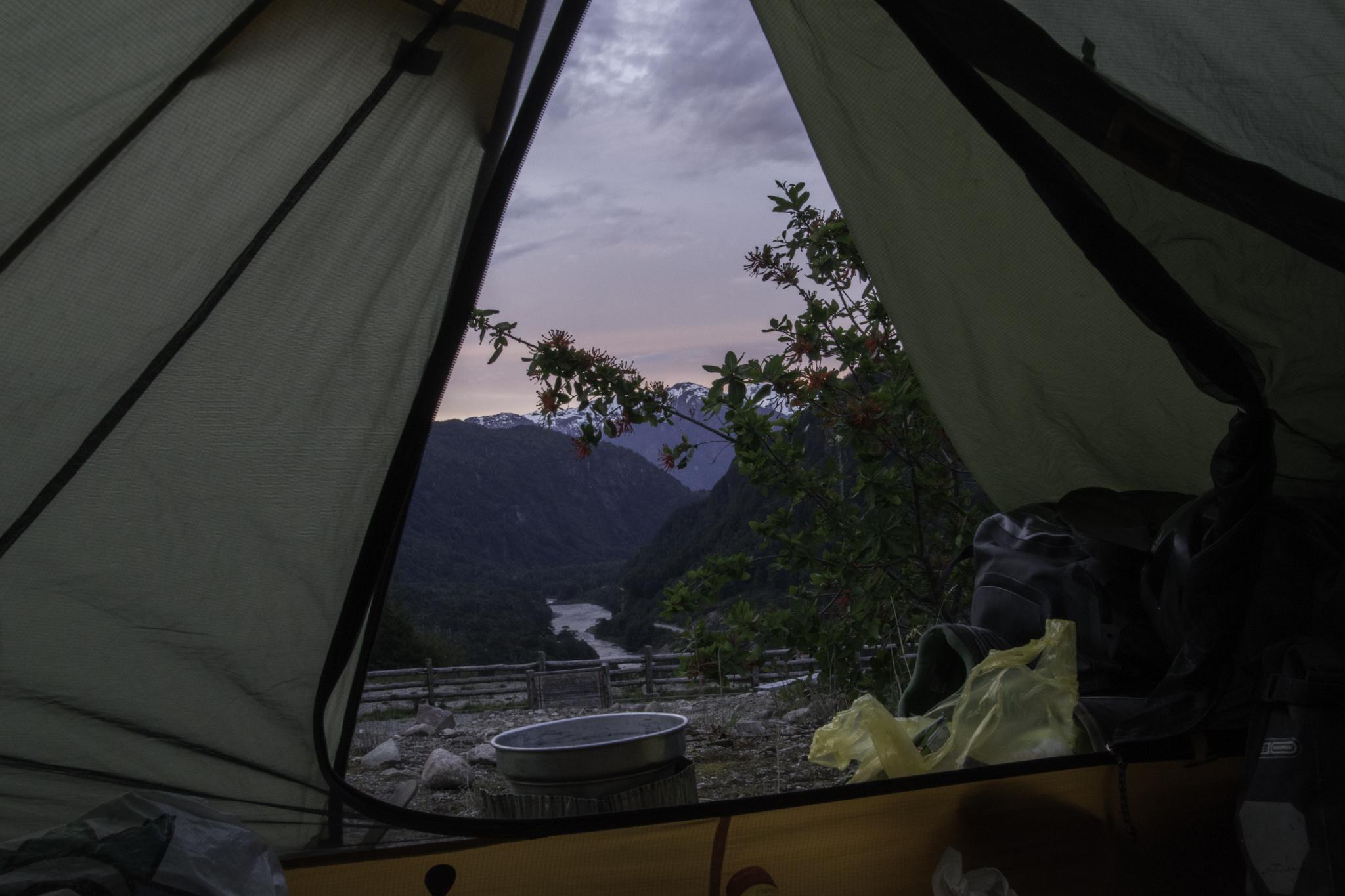 Ein weiterer Zeltplatz mit schöner Aussicht