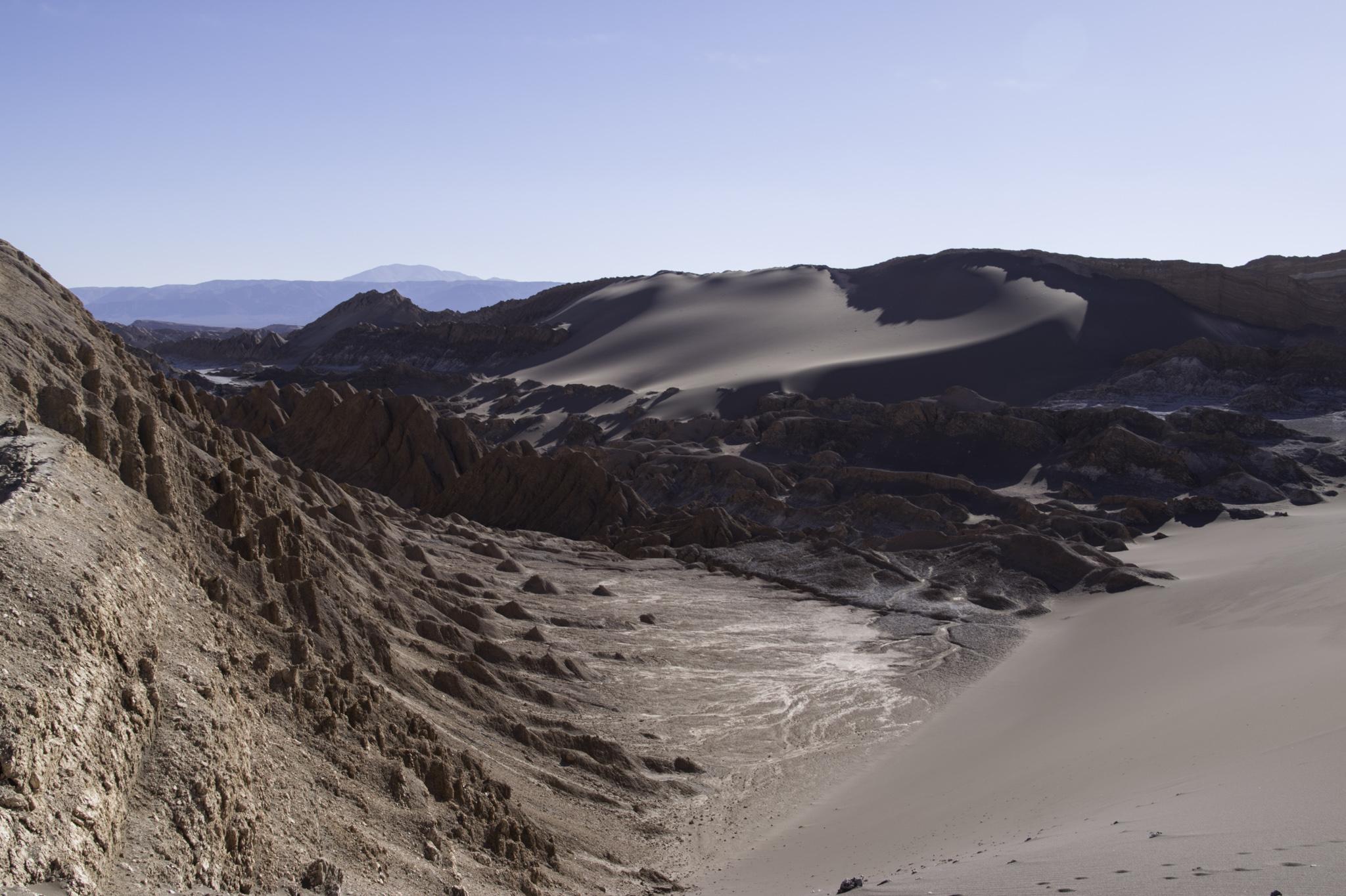 Das Tal des Mondes nahe von San Pedro de Atacama