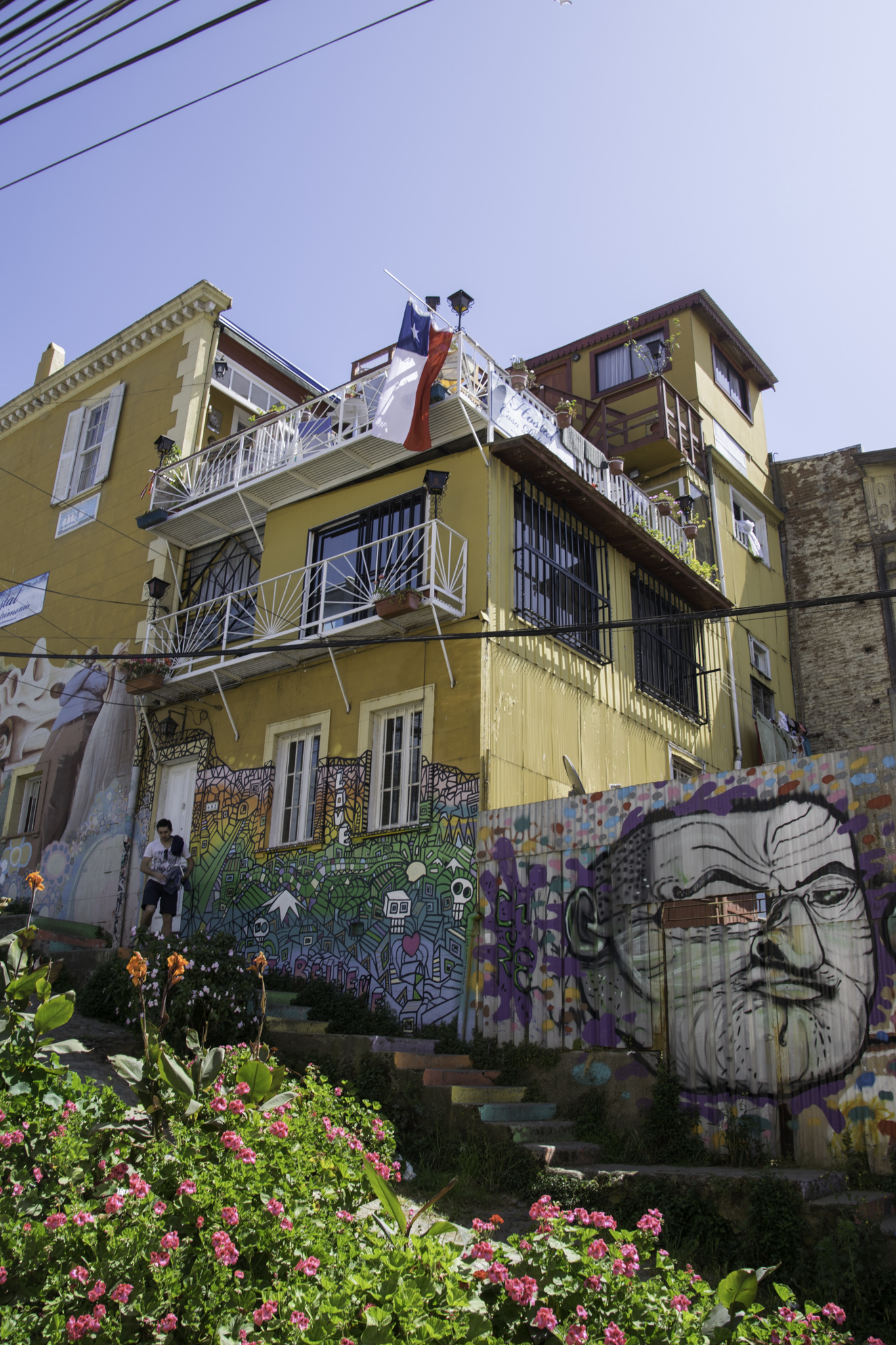 Kunstvolle Graffitis in Valparaíso