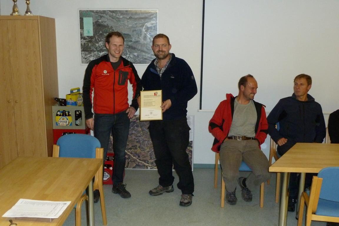 Ludwig Tröber Ehrung 25 Jahre Bergwacht