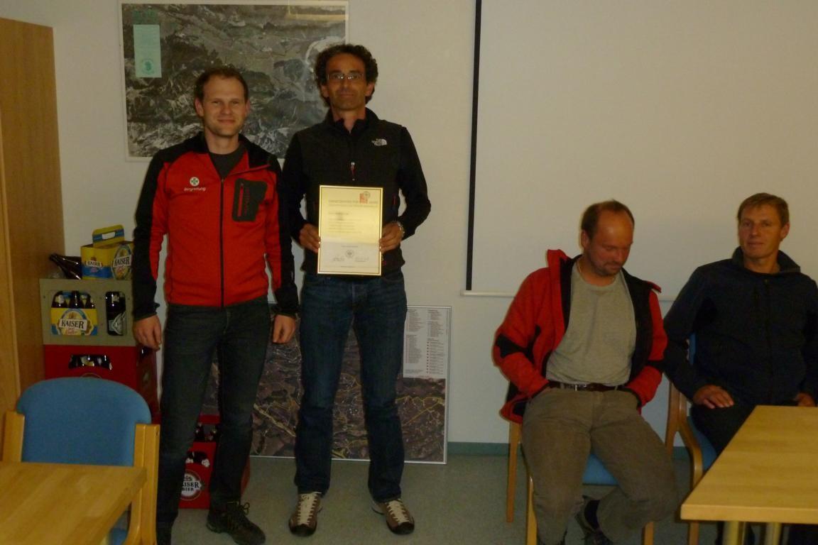 Mathias Lob Ehrung 25 Jahre Bergwacht