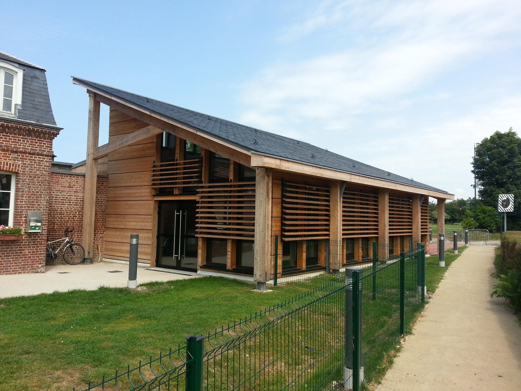 Construction d'une Salle Polyvalente à BENOUVILLE (76790) - Atelier d'Architecture TECTE (Le Havre) - Réalisation 2015