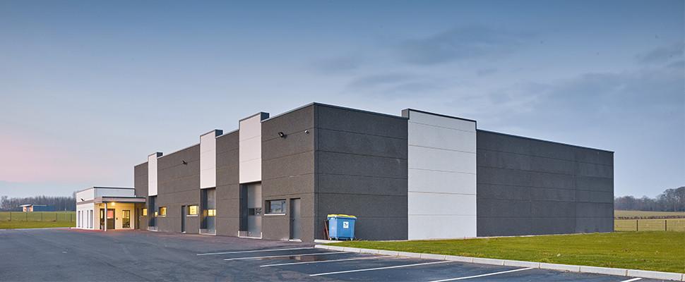 Bâtiment industriel à ISNEAUVILLE - Maîtrise d'Oeuvre : EQUATECH - PETIT QUEVILLY