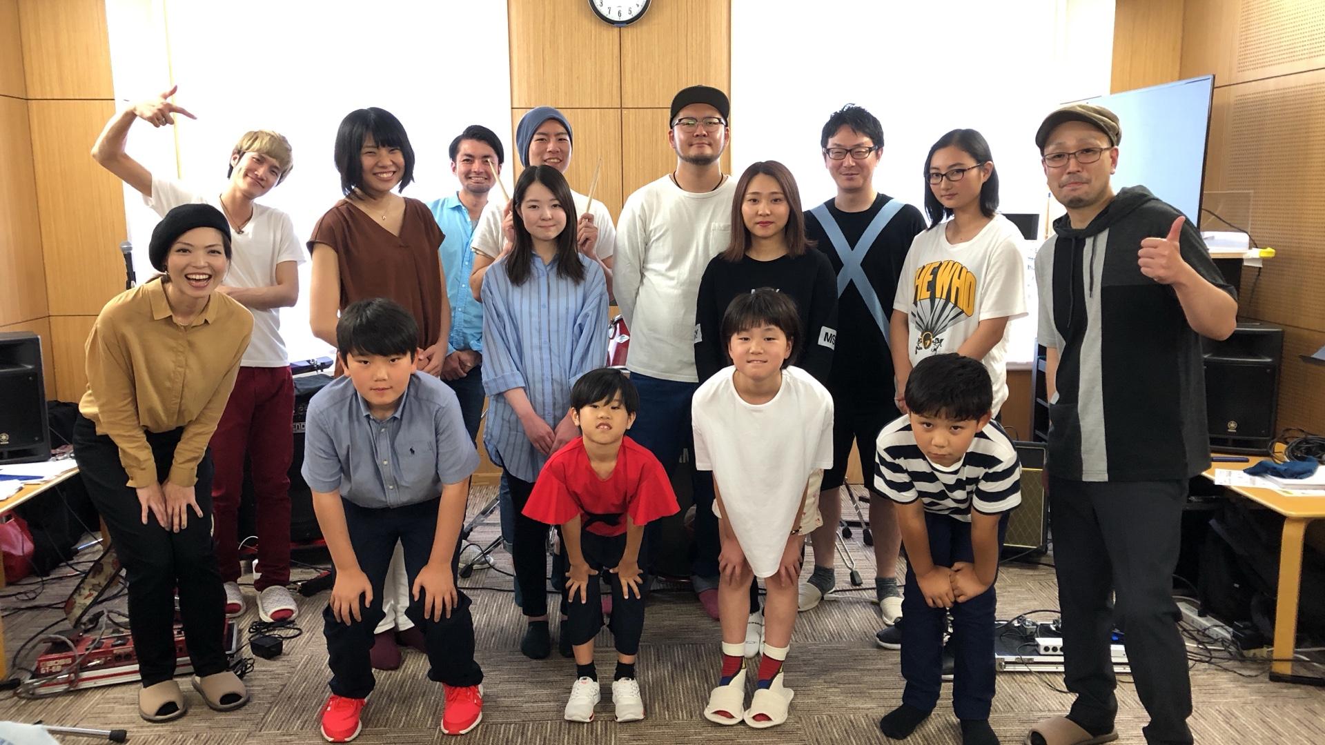 2019年6月に 群馬県 高崎市 内で開催された、ライドオン ドラムスクール の 発表会ライブ♪