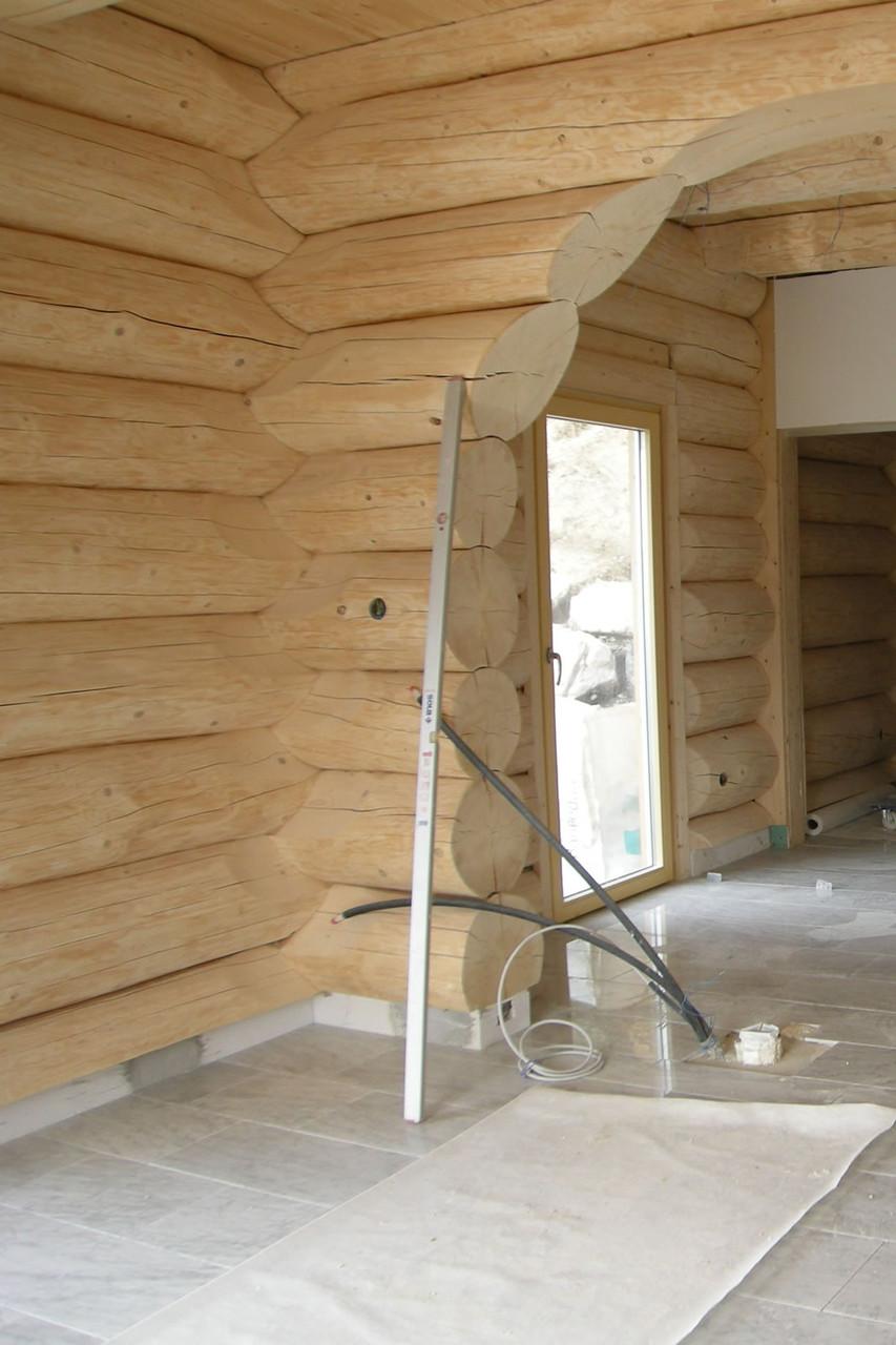 Marmorboden in einem Blockhaus Solenberg Schänis SG 2008