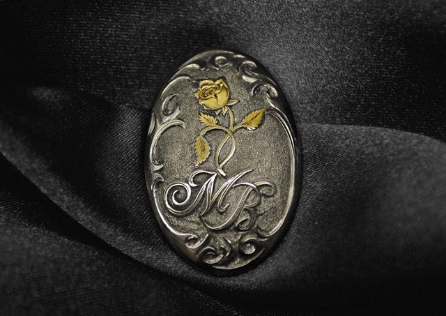 Pistolengriffkäppchen von Sommer-Exklusiv - Monogramm aus Gold - Gravur - veredelt by Sommer Exklusiv - Blaser