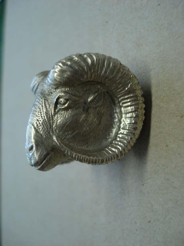 Kammergriffkugel für Blaser R8 und Blaser R93 von Sommer Exklusiv - Muffelwidder - Gravur Silber