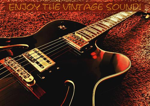 Postkarte Jazzgitarre - Enjoy The Vintage Sound (JoP04)