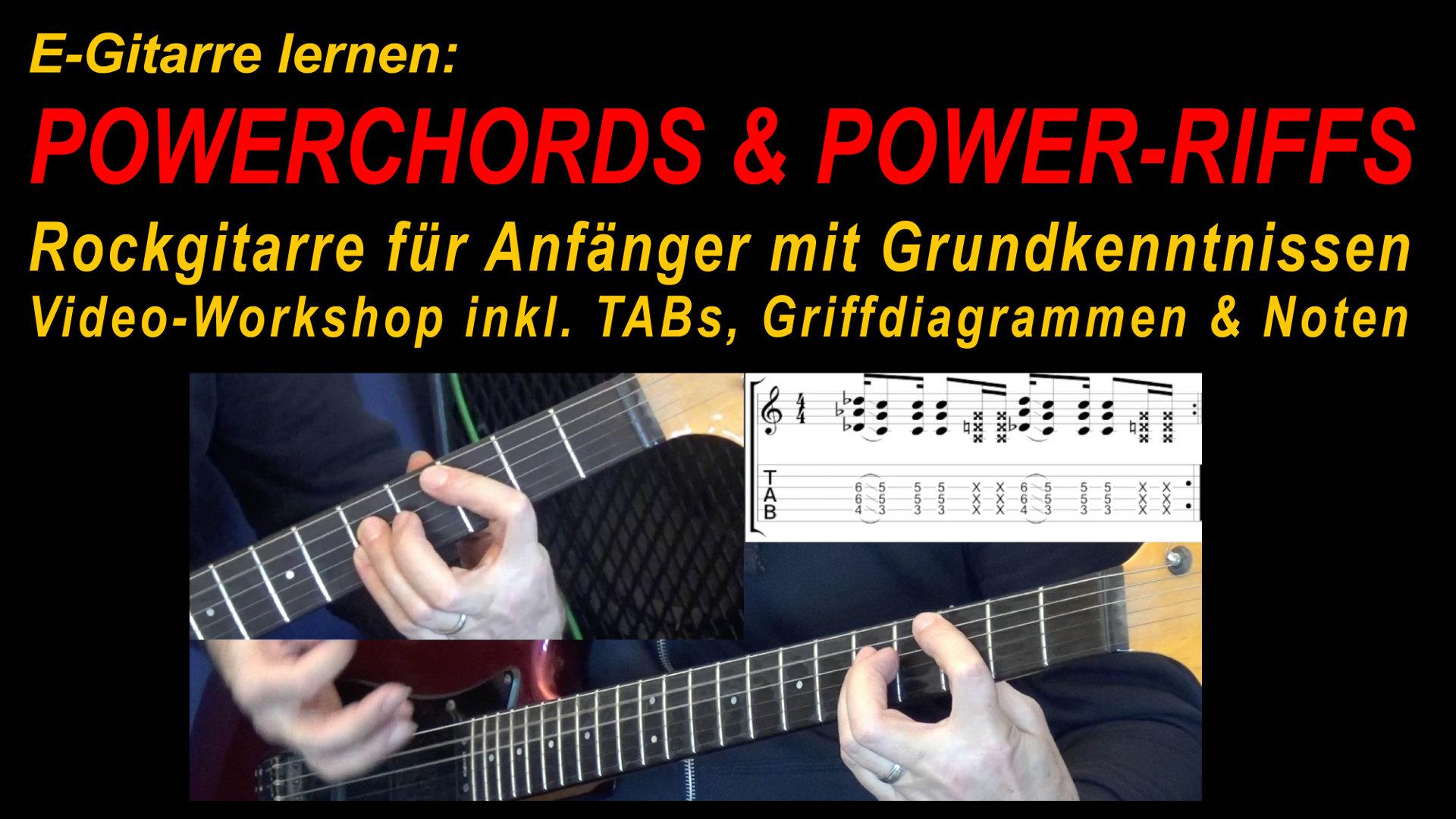 Powerchords E-Gitarre - Gitarre lernen