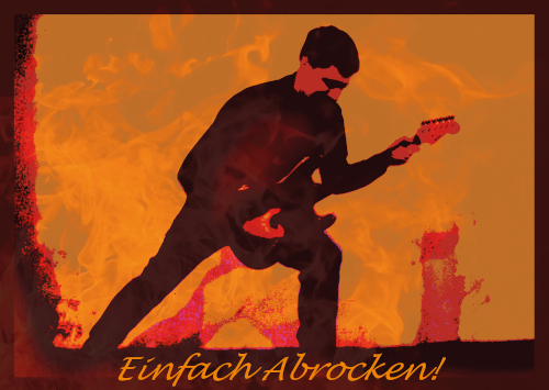 Postkarte E-Gitarrist - Einfach Abrocken! (JoP02)