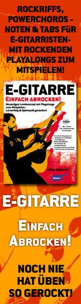 Rockgitarre lernen: Noten,TABs, Erklärungen & Playalongs / Übungen auf CD