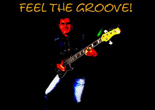 Postkarte Bassist - Feel The Groove! (JoP04)