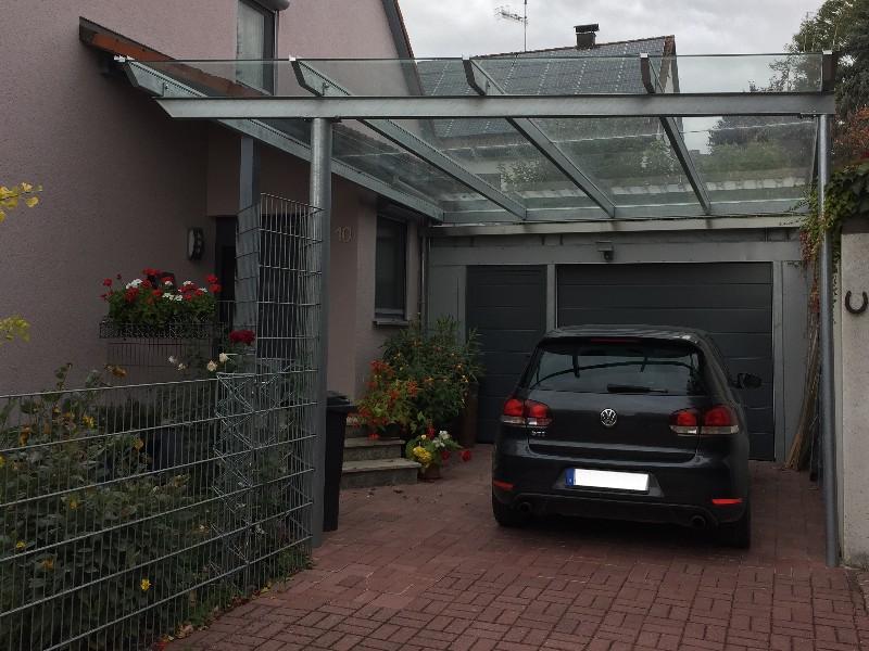 Sonderkonstruktion Haus - Garagenüberdachungen