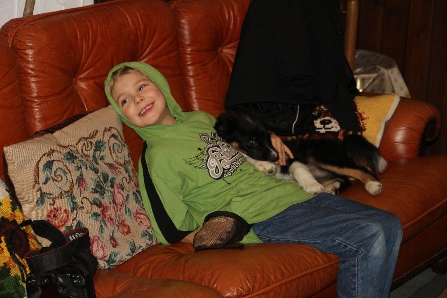 Michael mit Aylin (der Springmaus!)