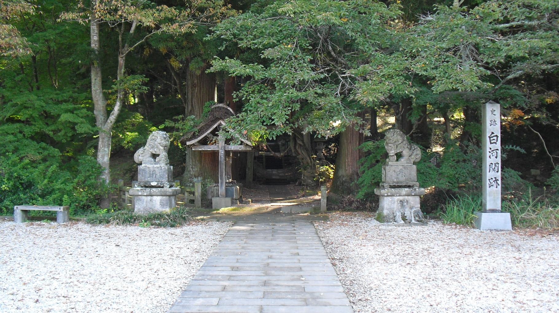 白河神社参道入口