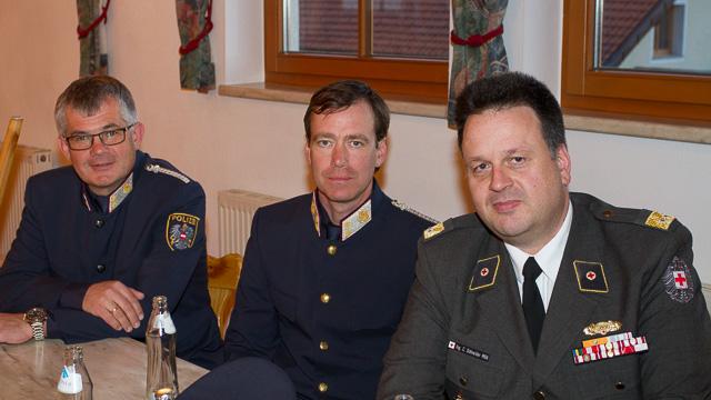 Vertreter der Polizei und Rotes Kreuz Innsbruck-Stadt