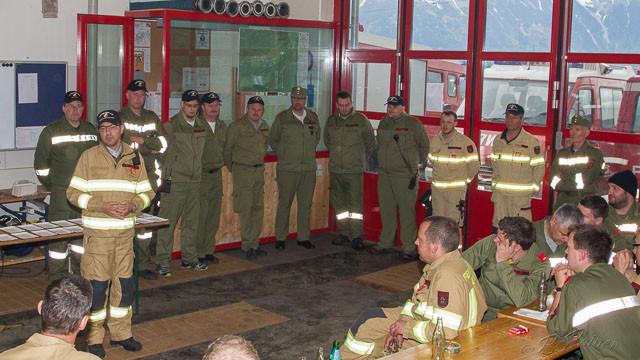 Schlussveranstaltung im Gerätehaus der Feuerwehr Kreith
