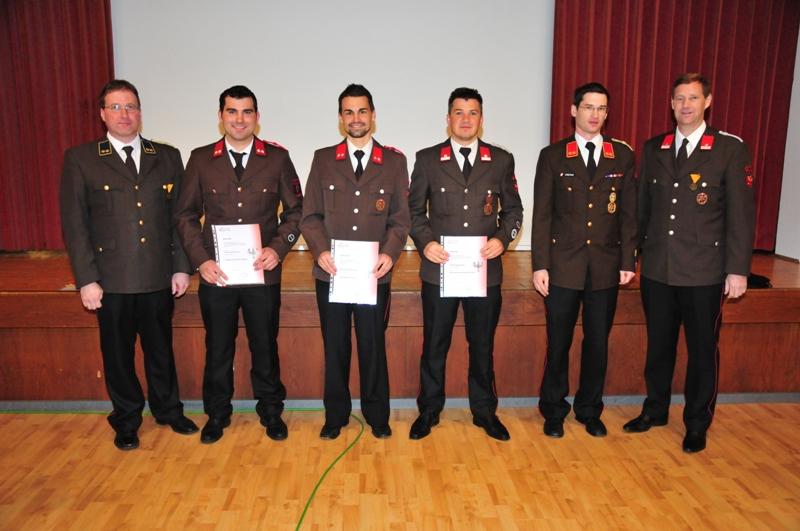 BI Martin Tanzer, OFM Bernhard Tanzer, OFM Josef Jaufenthaler, LM Stefan Braunegger, OBI Georg Crepaz, BGM LM Hansjörg Peer