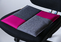 Sitzkissen Bürostuhl #patchwork pink/Flowmo Pad