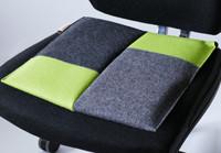 Sitzkissen Bürostuhl #patchwork lime/Flowmo Pad