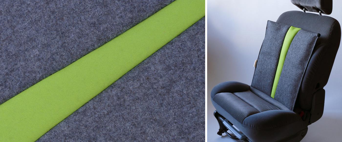 Autositzauflage für den Rücken #grau/grün