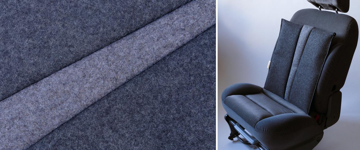 Autositzauflage für den Rücken #anthrazit/blau