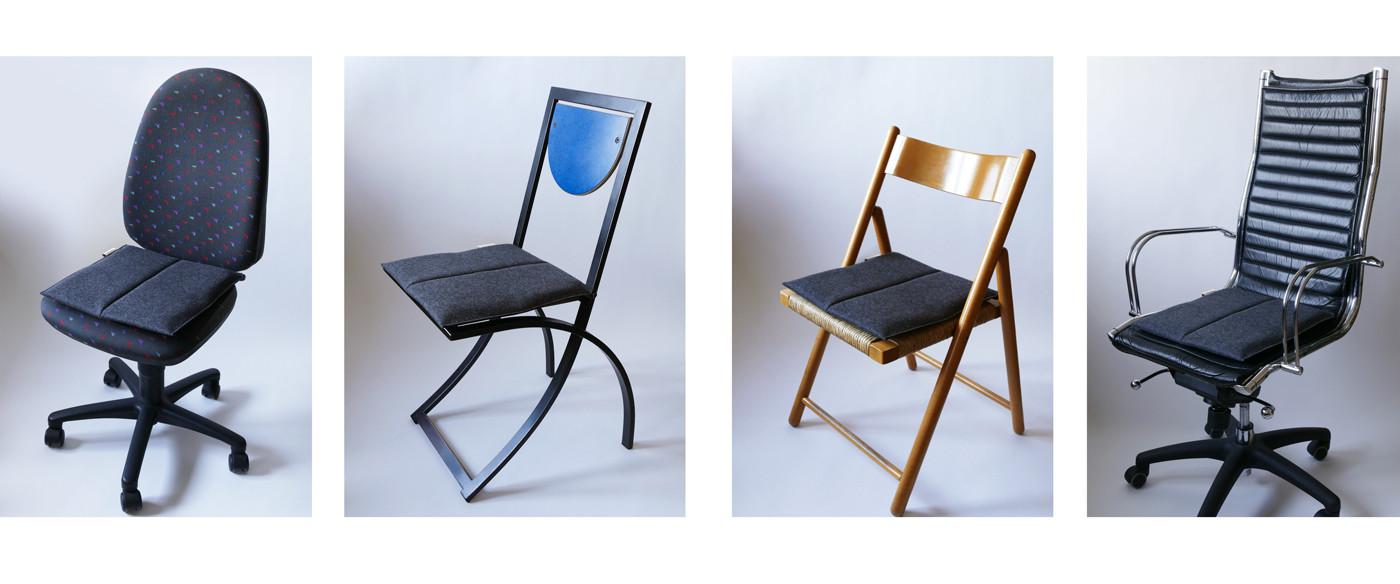 Ergonomisches Sitzkissen in anthrazit bringt Flow Motion auf unterschiedlichste Stühle