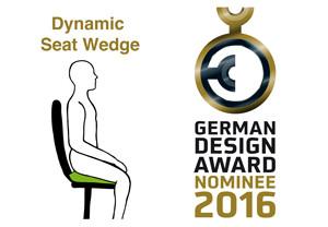 dynamisches Sitzen dank Flowmo Pad, das vom GDA nominiert wurde