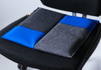 ergonomisches Sitzkissen Bürostuhl #patchwork blue/Flowmo Pad