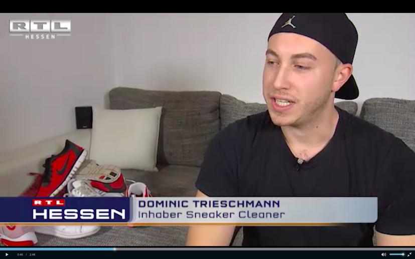 RTL Hessen Beitrag über Sneaker-Cleaner