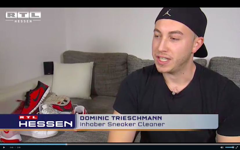 RTL Hessen Beitrag über Sneaker-Cleaner.com