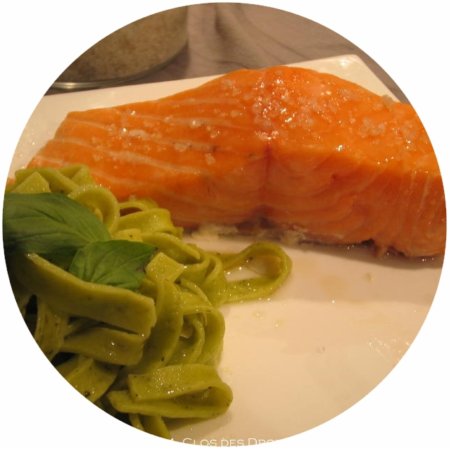 Organic salmon steak