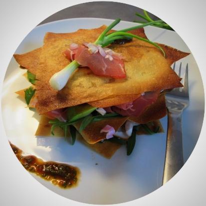 Filo pastry with Parma ham
