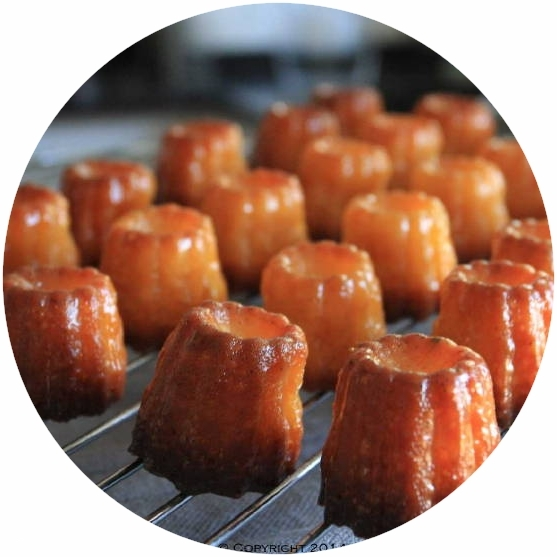 Home-made mini cannelés