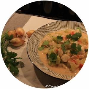 "Monkfish ""Pot-au-feu"" with fresh coriander"