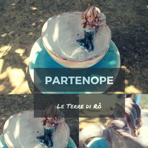 Partenope - Tazzina e piattino in ceramica Le Terre di Rò