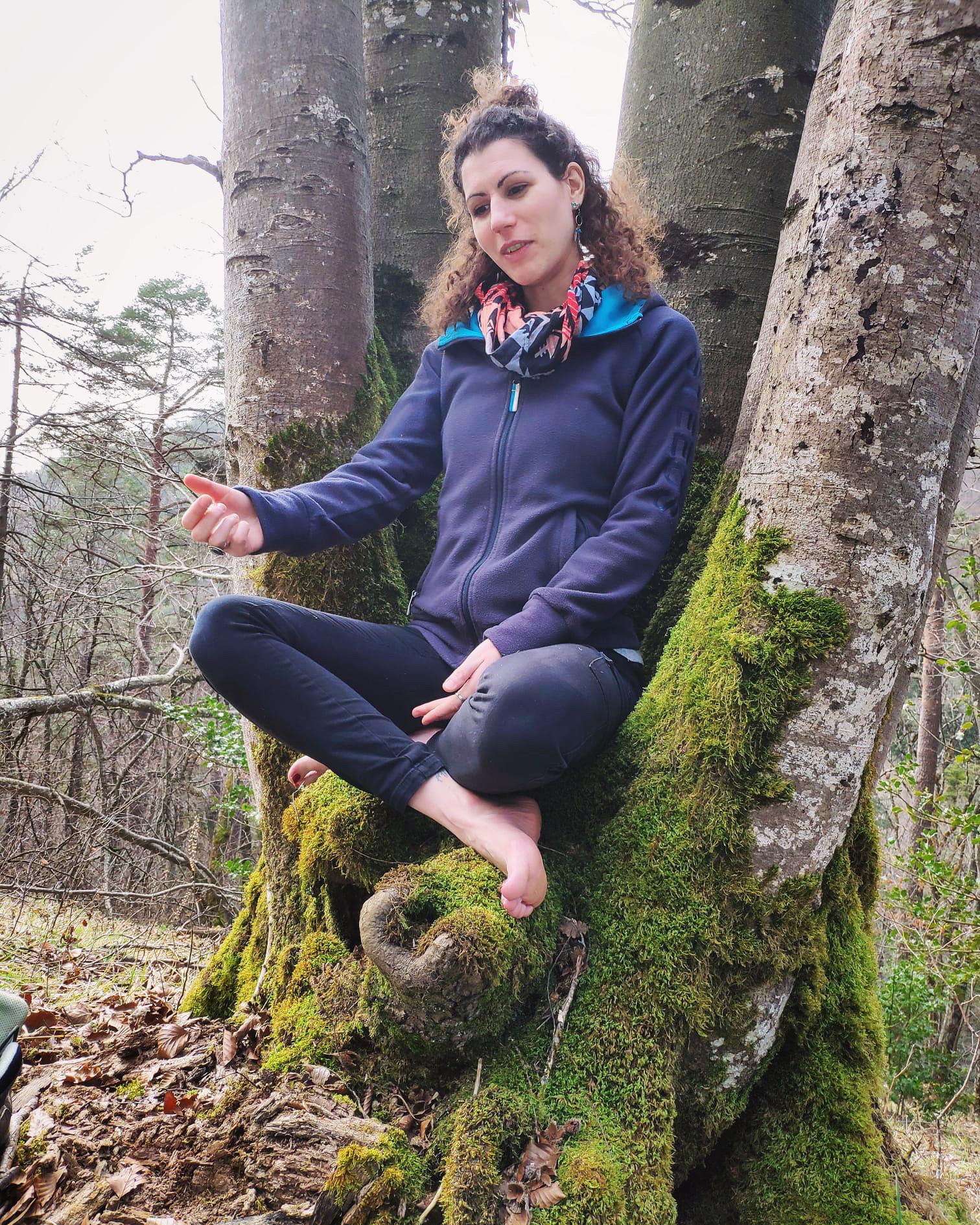 Geschichten erzählen im Wald.