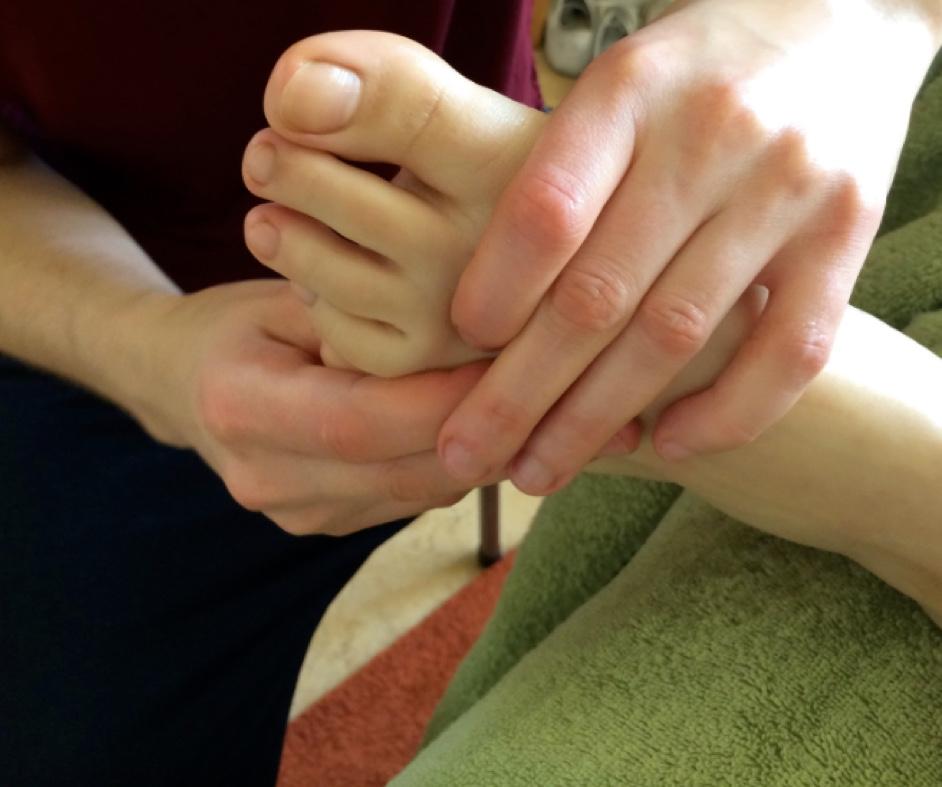 Fussreflexzonen-Behandlung