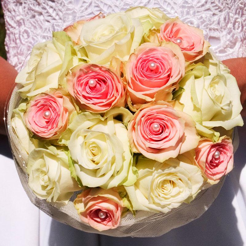 Brautstrauß rund 10