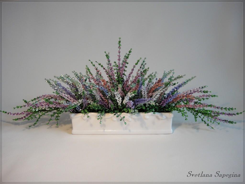 Новинки деревья и цветы из бисера