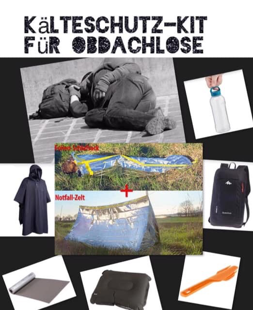 Kälteschutz-Kit für Obdachlose; IG Integration Jetzt Basel