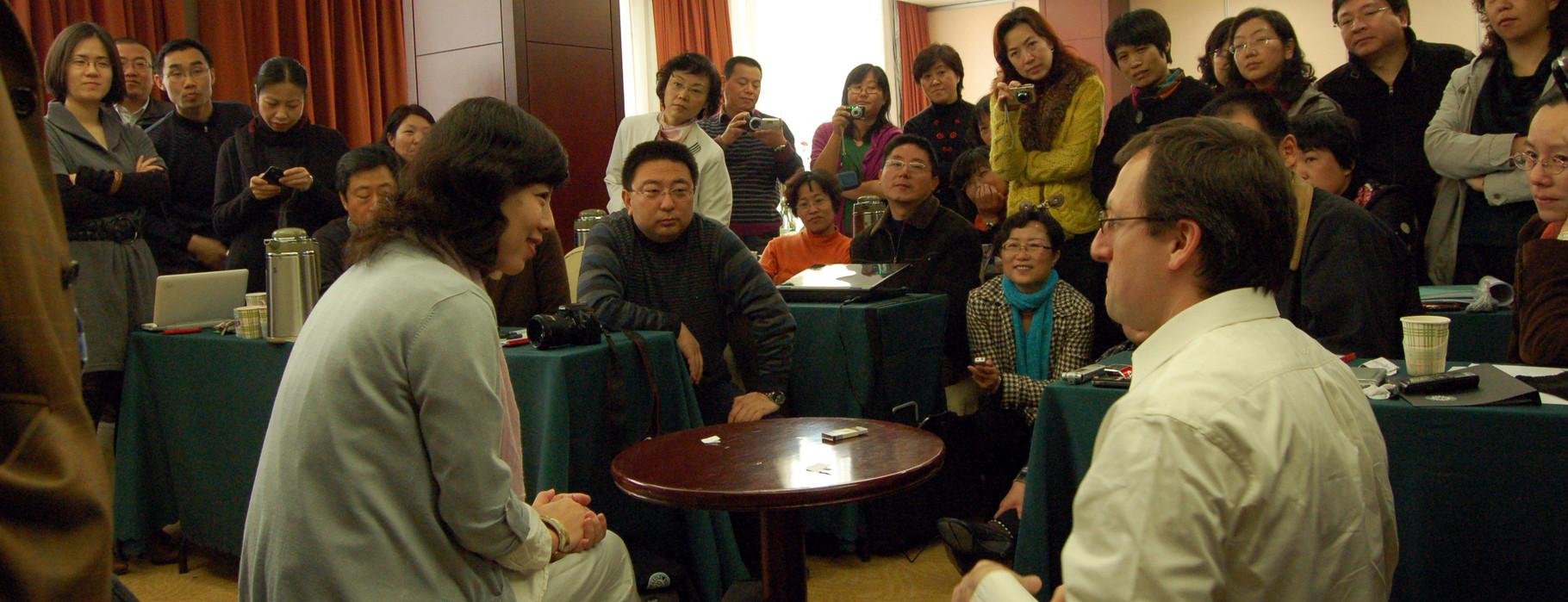 Hypnotherapie-Training an der Peking-University für chinesische Psychiater und Psychologen