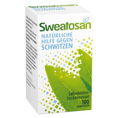 sweatosan tabletten 100 gegen schwitzen pallas apotheke. Black Bedroom Furniture Sets. Home Design Ideas