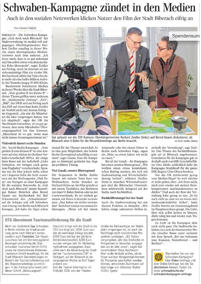 Zeitungsartikel vom 21.01.2017, SZ