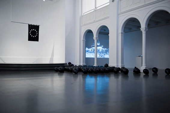 "BEWEGUNG NURR, ""European Black Flag"", 2014, Installation, Studio 1/ Kunstquartier Bethanien, Berlin"