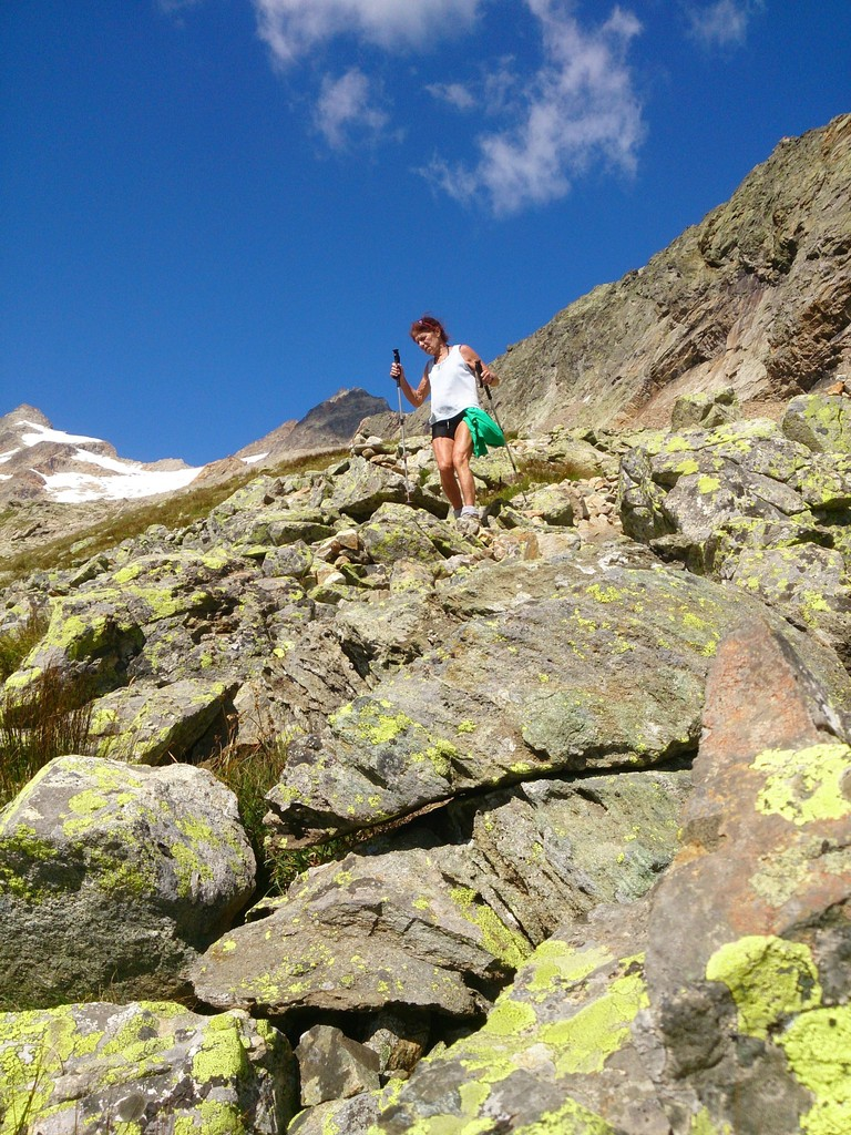 descente du bivouac Fiorio